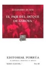 Papel EL PAJE DEL DUQUE DE SABOYA