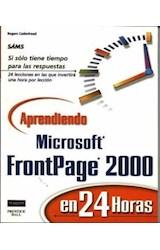 Papel APRENDIENDO MICROSOFT FRONTPAGE 2000 EN 24 HORAS