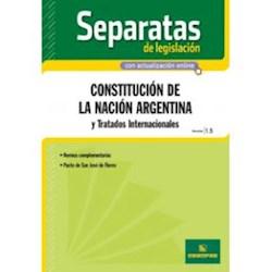 Papel Separatas De Legislacion - Constitucion De La Nacion Argentina