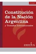 Papel CONSTITUCION DE LA NACION ARGENTINA Y TRATADOS INTERNAC  IONALES (POCKET)