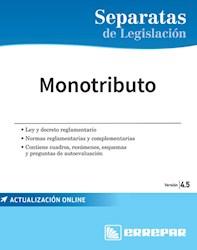 Libro Separatas De Legislacion : Monotributo