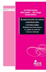 Papel ALFABETIZACION DE NIÑOS: CONSTRUCCION E INTERCAMBIO