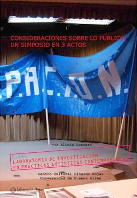 Papel Consideraciones Sobre Lo Publico, Un Simposio En 3 Actos