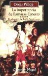 Papel Importancia De Llamarse Ernesto, La C Nogal