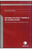 Papel SISTEMA POLITICO Y MODELO DE ACUMULACION TRES ENSAYOS S  OBRE LA ARGENTINA ACTUAL