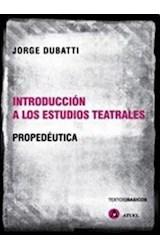 Papel INTRODUCCION A LOS ESTUDIOS TEATRALES