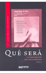 Papel QUE SERA 2 (TRANSMISION DEL PSICOANALISIS)