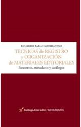 Papel TECNICAS DE REGISTRO Y ORGANIZACION DE MATERIALES EDITORIALE