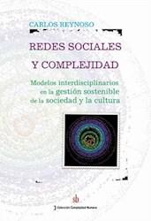 Libro Redes Sociales Y Complejidad