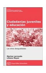 Papel CIUDADANIAS JUVENILES Y EDUCACION