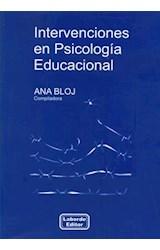 Papel INTERVENCIONES EN PSICOLOGIA EDUCACIONAL