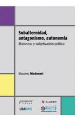 Papel SUBALTERNIDAD, ANTAGONISMO, AUTONOMIA