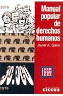 Papel MANUAL POPULAR DE DERECHOS HUMANOS (RUSTICA)