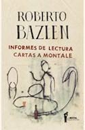 Papel INFORMES DE LECTURA CARTAS A MONTALE