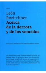 Papel ACERCA DE LA DERROTA Y DE LOS VENCIDOS