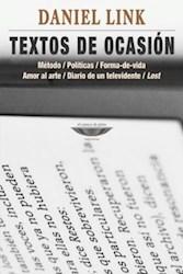 Libro Textos De Ocasion