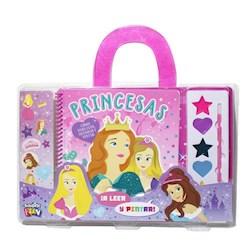 Libro Pinta Con Acuarelas Princesas