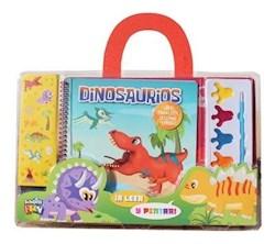 Libro Pinta Con Acuarelas Dinosaurio