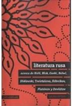 Papel LITERATURA RUSA ACERCA DE BIELI, BLOK, GORKI, BABEL, SHKLOVS
