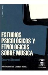 Papel ESTUDIOS PSICOLOGICOS Y ETNOLOGICOS SOBRE MUSICA (COLEC  CION NOVECENTO)