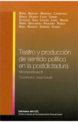 Papel TEATRO Y PRODUCCION DE SENTIDO POLITICO EN LA POSTDICTADURA