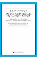 Papel LA CUESTION DE LOS UNIVERSALES EN LA EDAD MEDIA