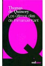 Papel Los Ultimos Dias De Immanuel Kant