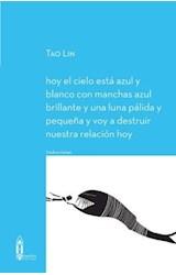 Papel HOY EL CIELO ESTA AZUL Y BLANCO CON MANCHAS AZUL