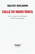 Papel CALLE DE MANO UNICA (TEORIA Y ENSAYO)
