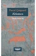 Papel ABISMOS (ULTIMO REINO III) (COLECCION EXTRATERRITORIAL)
