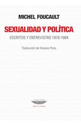 Papel SEXUALIDAD Y POLITICA ESCRITOS Y ENTREVISTAS 1978-1984 (COLECCION TEORIA Y ENSAYO) (RUSTICA)