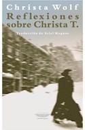 Papel REFLEXIONES SOBRE CHRISTA T. (COLECCION EXTRATERRITORIAL) (RUSTICA)