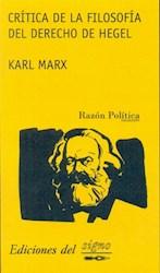 Libro Critica De La Filosofa Del Derecho De Hegel