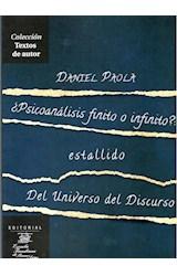 Papel PSICOANALISIS FINITO O INFINITO: ESTALLIDO DEL UNIVERSO DEL