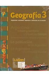 Papel GEOGRAFIA 3 MANDIOCA LLAVES ARGENTINA SOCIEDAD ESPACIOS E INSERCION (NOVEDAD 2019)