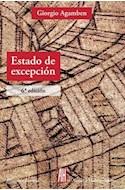 Papel ESTADO DE EXCEPCION (COLECCION FILOSOFIA E HISTORIA) (6 EDICION)