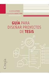Papel GUIA PARA DISEÑAR PROYECTOS DE TESIS