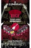 Papel ROCK GRANDES BANDAS INTERNACIONALES JUEGO ENCICLOPEDICO  (CONTIENE 32 LUMINIAS DE BANDAS DE