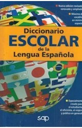Papel DICCIONARIO SAP ESCOLAR DE LA LENGUA ESPAÑOLA (BOLSILLO) (RUSTICA)