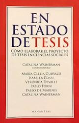 Libro En Estado De Tesis .Como Elaborar El Proyecto De Tesis En Ciencias Sociales