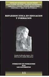 Papel REFLEXION ETICA EN EDUCACION Y FORMACION