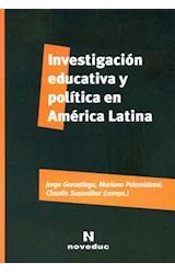 Papel INVESTIGACION EDUCATIVA Y POLITICA EN AMERICA LATINA
