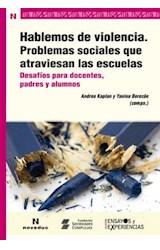 Papel HABLEMOS DE VIOLENCIA. PROBLEMAS SOCIALES QUE ATRAVIESAN LAS