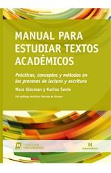 Papel MANUAL PARA ESTUDIAR TEXTOS ACADEMICOS