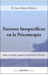 Papel FACTORES INESPECIFICOS EN LA PSICOTERAPIA