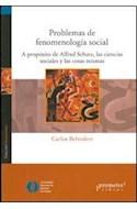 Papel PROBLEMAS DE LA FENOMENOLOGIA SOCIAL A PROPOSITO DE ALF  RED SCHUTZ LAS CIENCIAS SOCIALES Y