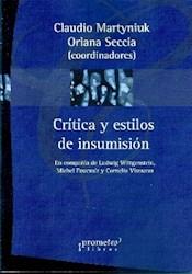 Libro Critica Y Estilo De Ensumision