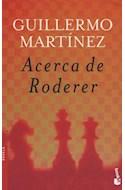 Papel ACERCA DE RODERER (COLECCION NOVELA)