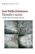 Papel FILOSOFIA Y NACION ESTUDIOS SOBRE EL PENSAMIENTO ARGENTO (TRES MUNDOS)
