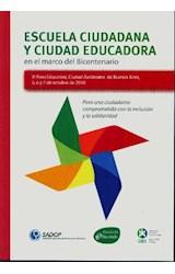 Papel ESCUELA CIUDADANA Y CIUDAD EDUCADORA EN EL MARCO DEL BICENTE
